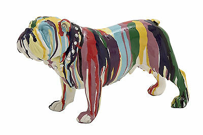 Stylish And Classic Style Colorful Polystone Bulldog Home Decor 44252