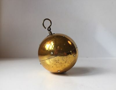 Vintage Reuge Swiss Made mechanical Gold Christmas Ball sphere Music Ornament