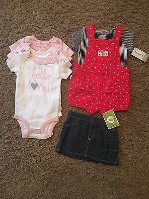 Baby Girl NWT Lot Of 3-6 Months Clothes Carters Circo Koala Baby Overalls