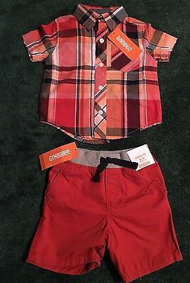Baby boy Gymboree summer outfit 6-12 months. Shorts and shirt. NWT RV: $51.90