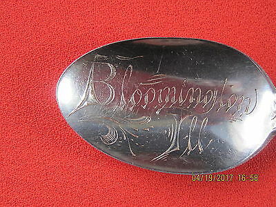 Bloomington, Illinois Sterling Silver  Souvenir Spoon / Marechalniel By Durgin