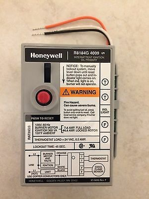 Honeywell Tradeline Protectorelay Oil Burner Control Relay R8184G4009 New In Box