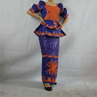 African Senegalese Style top and a wrapper Skirt Size available: 3XL
