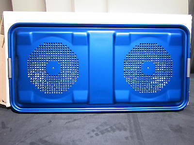 New Aesculap JK486 Full Size Sanitation Container Lid w/Retention Plate, Blue