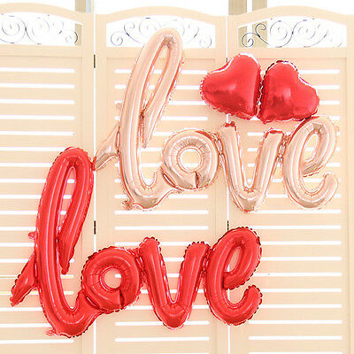Love Script Foil Balloon for Wedding Engagement Birthday Party Decoration