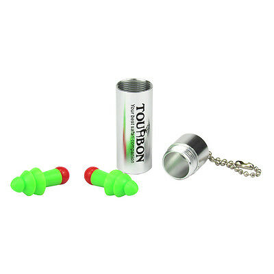 Tourbon Ear Plugs Hearing Protection Noise Reduction Shooting Carry Case Reused