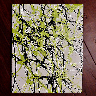 T. Witcher Expressive Abstract Art Original Oil Canvas Painting 8x10 Stretched