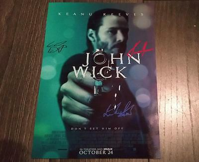"""John Wick Pp Signed 12""""X8"""" A4 Photo Poster Keanu Reeves"""