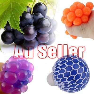 Fancy Anti Stress Face Reliever Grape Ball Autism Mood Squeeze Tackle ADHD Toy