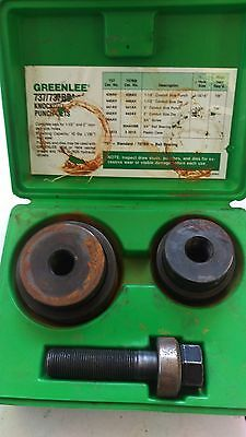 """Greenlee Knockout Punch Set 737BB with Case 1-1/2"""" and 2"""" (FE2015329)"""