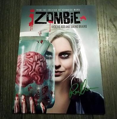 """Izombie Cast Pp Signed 12""""x8"""" A4 Photo Poster Rose Iver Undead I Zombie"""