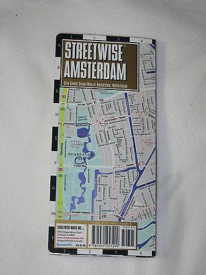 Streetwise Amsterdam Netherlands Map Laminated City Center Street 2015