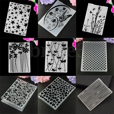 Plastic Various Pattern Embossing Folder Template Scrapbooking Paper Card Craft