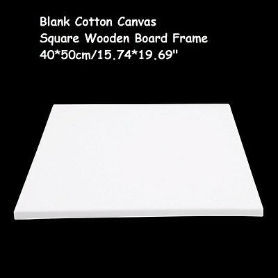 Blank Square Canvas Board Wooden Frame 40x50CM Large Painting Area for Students