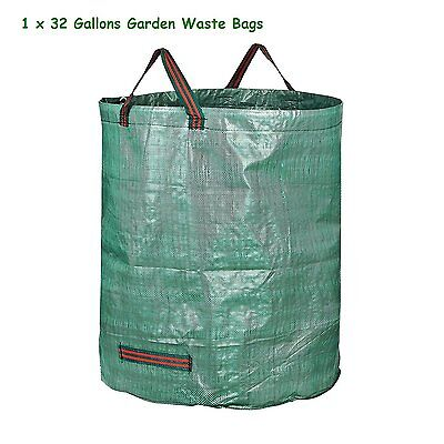 32 Gallons PP Huge Capacity Garden Leaf Waste Bags Strong Webbing Handle Design