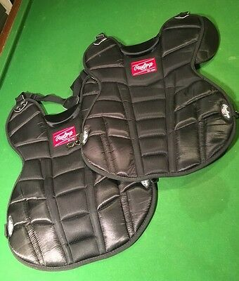 PAIR OF RAWLINGS ADULT SIZE UMPIRE BASEBALL SOFTBALL CATCHER (2) Lot Never Used
