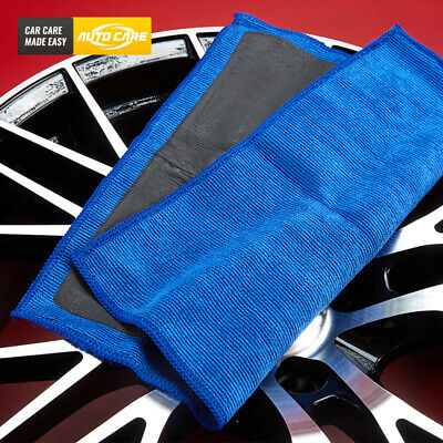 "Premium Blue Clay Towel 12""x12"" Fine Clay Bar Microfiber Auto Detailing Cloth"