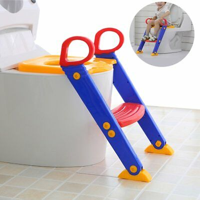 Kids Potty Training Seat with Step Stool Ladder for Child Toddler Toilet Chair W