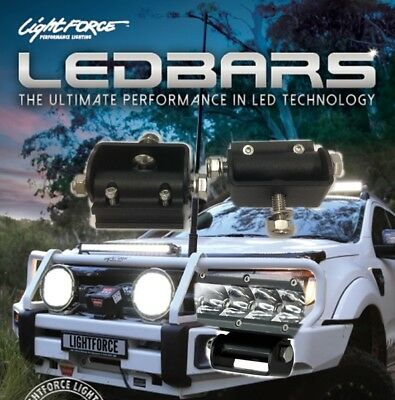 Lightforce LED Light Bar Slide Mount Set 2pk Suit Single or Double Row Lights CB