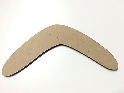 One (1) x 30cm MDF Wood Boomerangs Craft 3mm MDF Ready To Prime and Paint