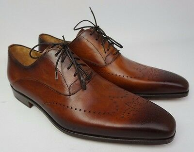 Magnanni Agusto Wingtip Brown Leather Men's Shoes Size 9 M NEW!!