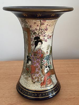 Lovely Japanese Hand Painted Satsuma Vase – Meiji Period