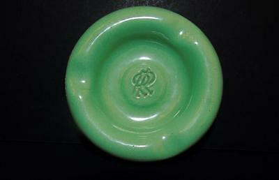 'ROLLS ROYCE' GREEN PORCELAIN/STEEL ADVERTISEMENT PREMIUM PROMO ASHTRAY c.1920s