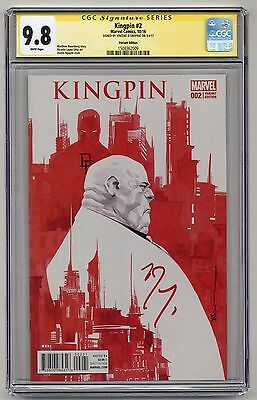 Kingpin #2 ~ Variant Edition ~ CGC 9.8SS Signed by Vincent D'Onofio ~ Marvel