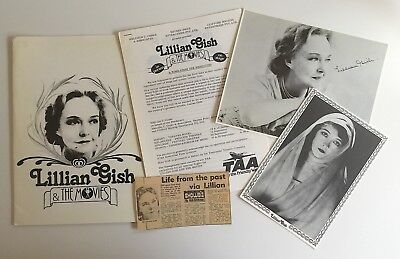 Lillian Gish & The Movies 1979 Australian Souvenir Program