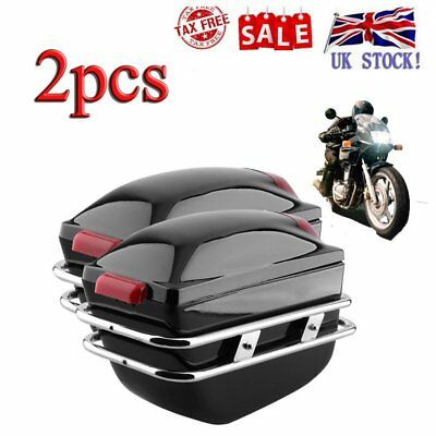 Hard Motorcycle Panniers Universal Case Side luggage Boxes Saddle Bags Cruiser