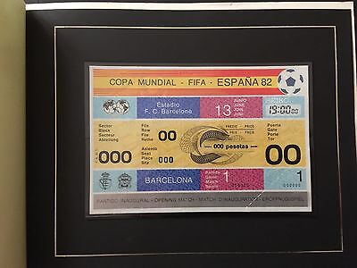 Collector Edition Mint Ticket Openning Match World Cup Spain 1982