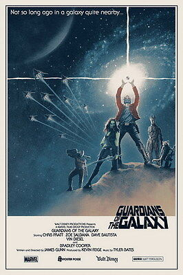 """015 Guardians Of The Galaxy - Fighting Hot Anime Movie 2014 14""""x21"""" Poster"""