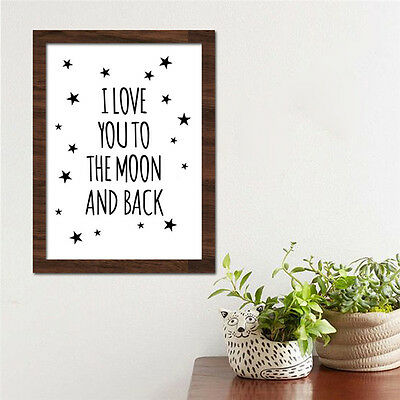 Love Quote Canvas Art Print Painting Poster Wall Pictures for Child Room Decor