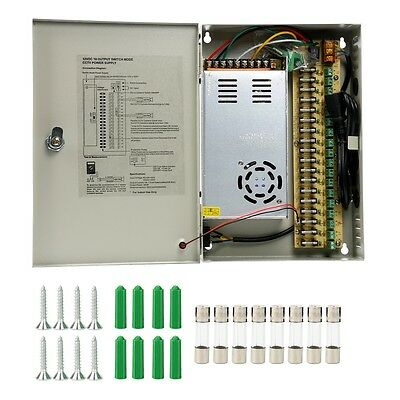 18 Channel Power Supply Distribution Box DC12V 30A for Security CCTV Camera