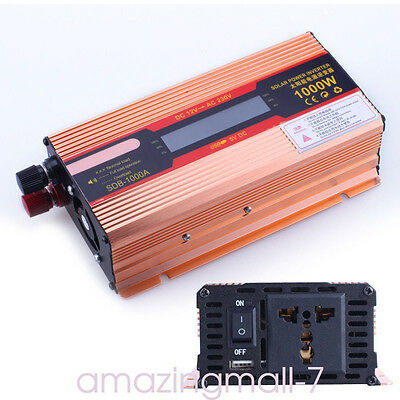Pure Sine Wave Inverter 1000W Car Power Inverter 24V DC to 220V AC Solar System