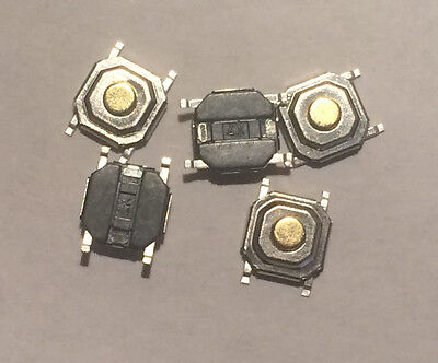 5 PCS MICRO SWITCH SMD PUSH BUTTON 4x4x1.5mm 4 PIN for Renault Peugeot Audi BMW
