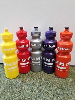 Netball Water Bottles, 5 great colours.