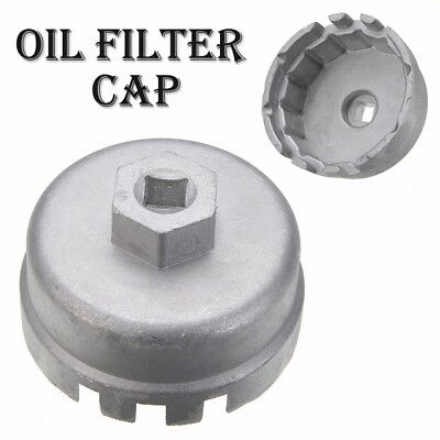 Universal 14 Flutes Oil Filter Socket Housing Tool Remover Wrench Cap For Toyota
