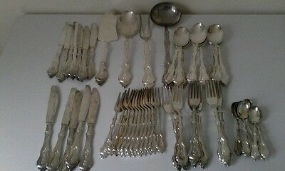 Vintage ITALY 60 Pieces Of Silver Plated Cutlery Set