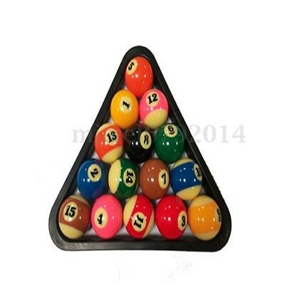 "Billiard 2-1/4"" 15 Ball Pool Rack Table Ball Combo / Triangle Rack SNOOKER POOL"