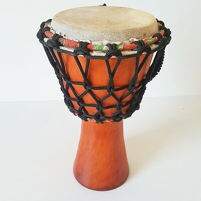Drum Djembe Old Handicraft Characterized Percussion Instrument Entertain Decor