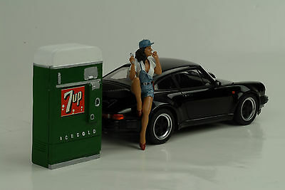 7 Up Beverages Machine Equipment 1:18 AMERICAN DIORAMA Without Figurine / Car