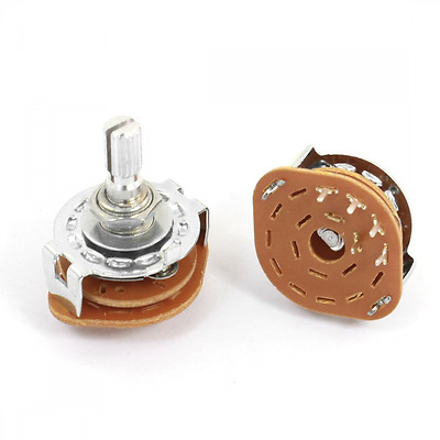 New Uxcell 2Pcs 1P4T 1 Pole 4 Position 6mm Shaft Dia Band Selector Rotary Switch
