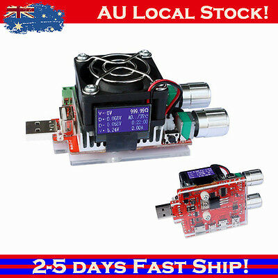 AU 35W 4A USB Double Adjustable Constant Current Electronic Load Battery Tester