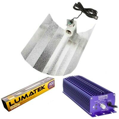 Lumatek Ultimate 600W 400V Pro Dimmable Digital Ballast & Bulb Grow Light Kit