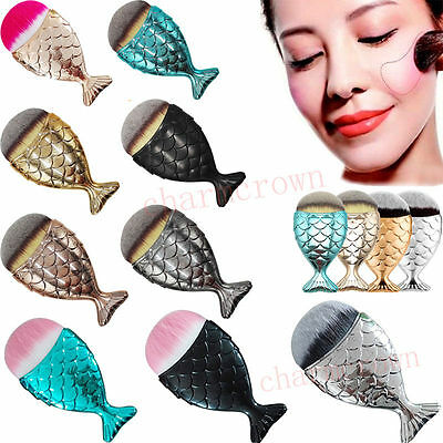 Mermaid Ecailles De Poisson Maquillage Pinceaux Queue Brosse Foundation Makeup