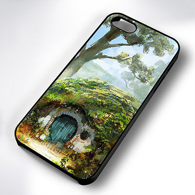 Hobbit Hole Painting Black Phone Case Cover Fits Iphone 4 5 6 7 (#bh)