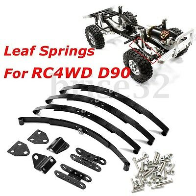 Stainless Steel Leaf Springs Shackles Kit Set for RC4WD D90 Crawler Climbing Car