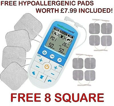 TENS/EMS/Massage Advanced Combo Dual Channel Pain Reliever Machine FREE PADS!!!