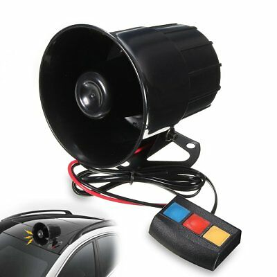 3 Sound Loud Car Warning Alarm Police Fire Siren Horn PA Speaker System 30W 12V